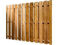 plankeværk lodret i brun 100x200cm