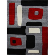 @Overstock.com - New Waves Grey Geometric Rug - Decorate in style with these contemporary elegant area rugs made of soft frieze Heat-Set yarn with hand-carving. The colors are a basic combination of Beige, black, red and grey that makes it easy to decorate with any furniture style.   http://www.overstock.com/Home-Garden/New-Waves-Grey-Geometric-Rug/7578911/product.html?CID=214117 $164.99