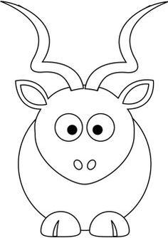 Free Baby Kudu Coloring Page