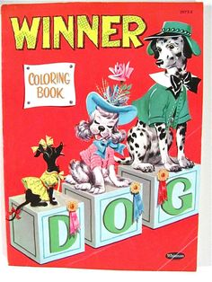Winner Dog Coloring Book - Whitman