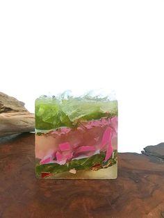 Amandine gâteau savon cristal poli carré Agate cristal à la