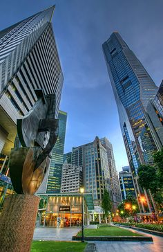 Central Business District in Raffles Place ~ Singapore...