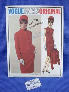 VPO 1749 Lanvin Suit 60s Dress & Jacket Sz12 uncut+tag bin 44.5+fr