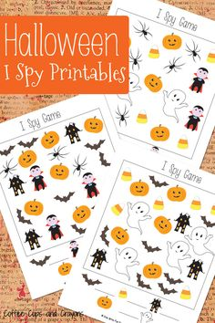 Spookiest time of the year is fast approaching! Let's celebrate that fact with these fun Halloween I Spy Printables!