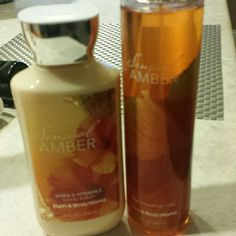 SALE! Bath and body works Sensual Amber! Lotion and perfume never been used! Bath and body works Other