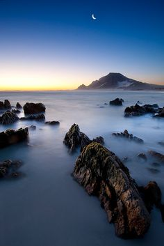 Sunset Moon ~ Western Cape, South Africa