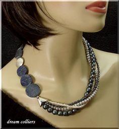 Lapis-Perlencollier Unikat von Dream-Colliers auf DaWanda.com