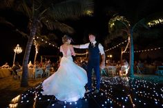 First dance outdoors on a LED dance floor by the ocean - YES PLEASE! We love capturing destination celebrations including hang outs with your guests before the wedding, your FULL wedding day, and a day-after Bride and Groom session where we pull out our UNDERWATER GEAR!! Can't wait to do this next winter with one of our amazing couples 🙌🏻 ⠀ ⠀ #byAshleyDaphne #calgaryweddingphotographer #calgaryweddingphotos #yycweddingphotographer #yyccouplephotographer #calgarycouplephotographer #canmorewe Beach Table Decorations, Led Dance, First Dance, Our Love, Hanging Out, Underwater, Celebrations, Our Wedding, Wedding Photos