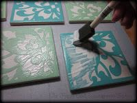 ModPodge Coasters using my Silhouette SD die cutter machine