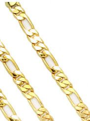 SOPRANO BRACELET ITALILAN LINK NEW WHITE or YELLOW GOLD YOUR CHOICE 8 INCH HIGH QUALITY!!!!