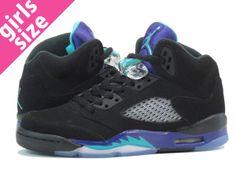 7de3851d728c3 Womens Nike AJ5 Air Jordan Black Grape 5s Retro 2013 Shoes