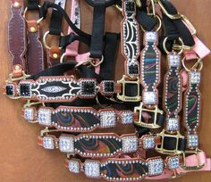 Crown Leather halters, I'll take all of them!