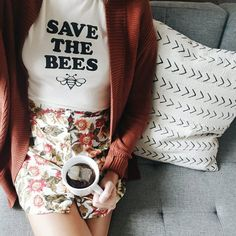 Save the Bee Womens Shirt Save the Bees T Shirt Endangered