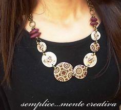 https://flic.kr/p/zBxEuu | Polymer clay necklace