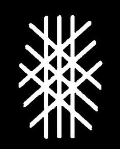Symbol for the Anglo-Saxon concept of Wyrd or destiny. The symbol suggests a… Esoteric Symbols, Ancient Symbols, Wiccan, Magick, Witchcraft, Vegvisir, Asatru, Viking Tattoos, Norse Mythology