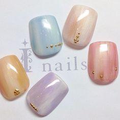 Inails渋谷店さんも使ってるネイルブック。毎日最旬新着ネイル続々♪流行のデザインが丸わかり! Love Nails, Pretty Nails, My Nails, Japanese Nail Art, Feet Nails, Gradient Nails, Fabulous Nails, Beautiful Nail Art, Simple Nails