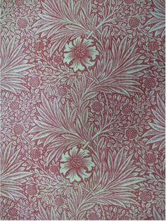 'Marigold' furnishing fabric designed by William Morris, Great Britain, 1875.