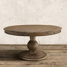"Lara 60"" Round Pedestal Dining Table In Natural"