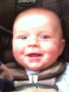 Declan's big smile