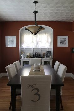 Ideas Diy Table Cover Chair Slipcovers For 2019 Chair Covers, Table Covers, Dinning Room Tables, Dining Chairs, Furniture Makeover, Diy Furniture, Chair Leg Floor Protectors, Diy Home Decor, Room Decor