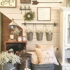 Wall Collage with Reclaimed Metal Farm Fixtures