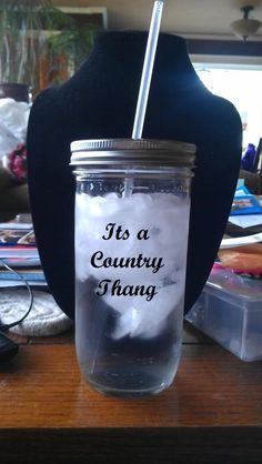 Mason Jar Tumbler cups by DaisyStarrJewelry on Etsy, $7.00