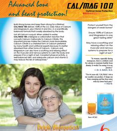 CAL/MAG 100 - Optimal Bone Protection - A Complete Calcium and Magnesium Supplement: Enhances Skeletal and Other Body Systems.
