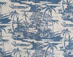 Vintage Tropical/Hawaiian Print Fabric-Cut Yardage-3 Yards by MarketHome, $54.00