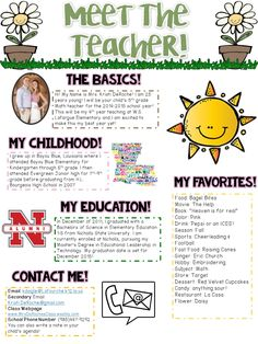 Fun in first grade welcome back to school letters with a for Meet the teacher brochure template