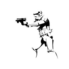 Stickers, autocollant Star Wars stormtrooper