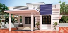 The Simplicity of this Three-bedroom Modern Bungalow Makes it Winsome - House And Decors House Outer Design, Single Floor House Design, House Outside Design, Duplex House Design, House Front Design, Small House Design, Modern House Design, Modern House Facades, Small Modern House Plans