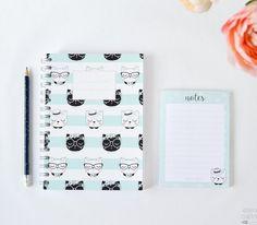 Set Libreta y bloc de notas Miau Libreta gatos por esenciacustome
