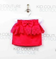 Peplum Eyelet Skirt-skirt