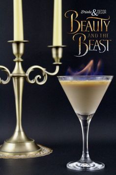 Lumiere's Torch! Beauty and the Beast Inspired Cocktails, Disney inspired drinks, Disney's Beauty and the Beast, Be our Guest, Drinks on fire, Flaming Drink, Flaming cocktail