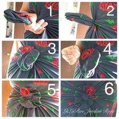 LuLaRoe flow knot, so cute and easy!   https://www.facebook.com/groups/lularoekatelynstanulewich/