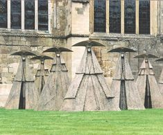 The Dogerina's Progress by sculptor Philip Jackson.  A few years ago he had an exhibition in the grounds of Chichester Cathedral, from where this picture, I think, was taken. It left me breathless and awestruck.  They are enormous and imposing and wonderful.