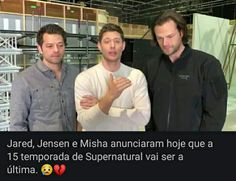 😢😭😱😔 Familia Winchester, Supernatural Seasons, Misha Collins, Castiel, Jensen Ackles, Memes, Dean, Pasta, Supernatural Funny