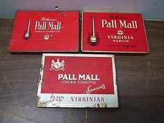 3 Different Rothmans Pall Mall Flat 50 Cigarette Tobacco Tins