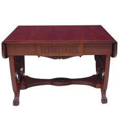 Baltic Empire Style Sofa or Writing Table, circa 1910 in Mahogany Pine Table, Leaf Table, Second Hand Furniture, Writing Table, Art Deco Period, Empire Style, Table Furniture, Side Chairs, French Polish
