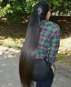 Long Hair Ponytail, Long Braids, Ponytail Hairstyles, Straight Hairstyles, Beautiful Long Hair, Gorgeous Hair, Long Indian Hair, Remy Hair Wigs, Long Black Hair