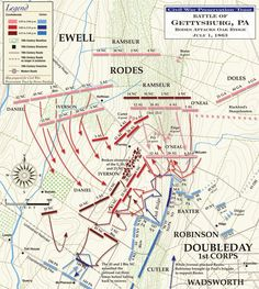 Gettysburg Map, Gettysburg Battlefield, American Civil War, American History, West Map, Confederate States Of America, Confederate Monuments, Gettysburg National Military Park, Civil War Photos