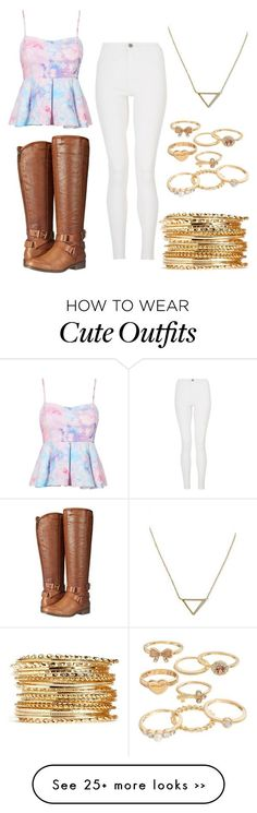 """""""Cute outfit for fall!"""" by lmholly on Polyvore featuring Quiz, Madden Girl, Banana Republic and Mudd"""