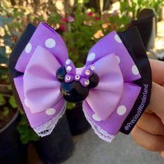 Items similar to Purple Mrs Mouse Inspired Hair Bow on Etsy Ribbon Hair Bows, Girl Hair Bows, Girls Bows, Disney Hair Bows, Jojo Bows, Bow Tie Wedding, Bow Tutorial, Boutique Hair Bows, Making Hair Bows