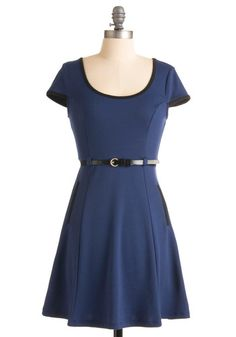 Just got this dress - SO cute... I swapped out the belt shown with a black patent bow belt, black tights, black boots... Very mod, very 60s...