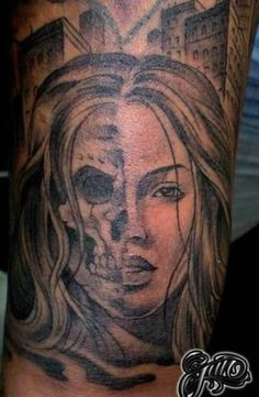 38 Best Girl Skull Face Tattoo Images Skull Tattoos Tattoo