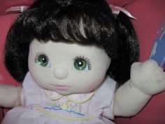 MY CHILD DOLL Brunette Green Eyes Pink Makeup & Ducky Dress NEW in Box HTF!!! #DollswithClothingAccessories