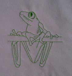 Gerri - Tree Frog Lines 1 Machine Embroidery Design Set