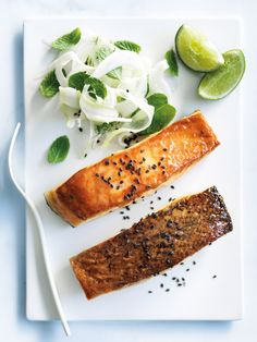 miso and orange-glazed salmon from donna hay