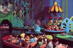 *it's a small world*- awesome! Back when Disney had mr toad's wild ride