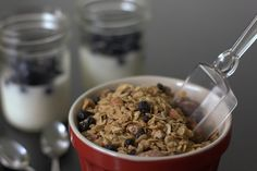 Blueberry Flax Granola | my kitchen addiction